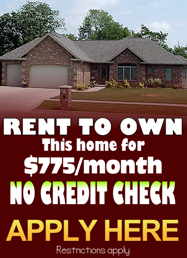 rent to own homes with bad credit
